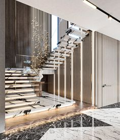 Staircase Interior Design, Luxury Staircase, Home Stairs Design, Home Room Design, Luxury Interior Design, Modern House Design, Interior Architecture, Floor Design, Ceiling Design