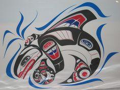 Haida Designs | Panoramio - Photo of Killerwhale Tatoo Design, Haida Gwaii Orca Motif