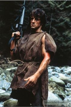 A gallery of First Blood publicity stills and other photos. Featuring Sylvester Stallone, Brian Dennehy, Richard Crenna, Jack Starrett and others. Movie V, 80s Movies, Action Movies, Horror Movies, Good Movies, Sylvester Stallone Rambo, Silvester Stallone, John Rambo, First Blood