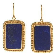 Pipa Smal Lapis Lazuli & Gold earrings