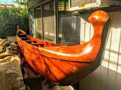 Koa Hawaiian Wood Outrigger Canoe ~ Outrigger Canoe, Outdoor Furniture, Outdoor Decor, Hammock, Hawaiian, Wood, Home Decor, Decoration Home, Woodwind Instrument