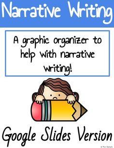Narrative Story, Narrative Writing, Writing Strategies, Writing Tips, Elementary Teacher, Elementary Schools, Writing Graphic Organizers, Learning Centers, Teacher Resources