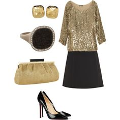 """Gold and black"" by jossiebristow on Polyvore"