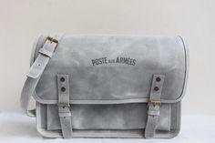 Sacoche Poste aux Armées cuir gris Messenger Bag, Satchel, France, Grey Leather, Objects, Bag, Accessories, Crossbody Bag, Backpacking