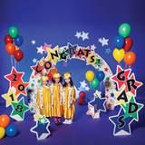 Color Craze Stars Complete Prop Set - Set the stage for a great graduation. This vibrantly colored theme includes everything you need to set the perfect scene for graduation. Graduation Poems, Graduation Crafts, Pre K Graduation, Kindergarten Graduation, Graduation Decorations, School Decorations, Graduation Images, Stage Props, Gladiolus