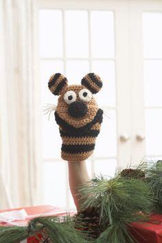 Crochet hand puppet! Free pattern.