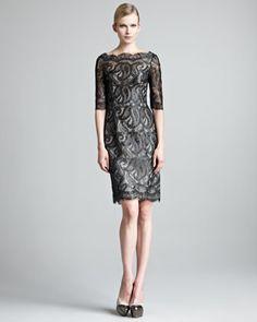 LO AMO!!! LO QUIERO!! Regalenmelo! Ufff osea es sexy, femenino, elegante... Lacquered Paisley Lace Dress by Erdem at Neiman Marcus.
