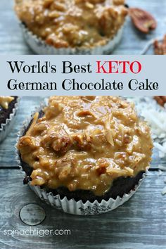 Keto German Chocolate Cake Spinach Tiger - Keto Recipes - Ideas of Keto Recipes - Keto German Chocolate Cake from Spinach Tiger Desserts Keto, Keto Friendly Desserts, Keto Snacks, Dessert Recipes, Keto Sweet Snacks, Dessert Ideas, Keto Cake, German Chocolate, Keto Chocolate Cake