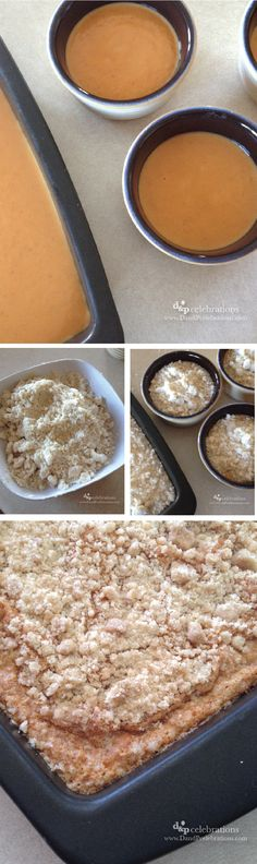 EASY pumpkin crumble recipe, this one is gluten free!