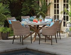 Enjoy breakfast on the patio in the comfort of your CANVAS Seabrooke Chairs
