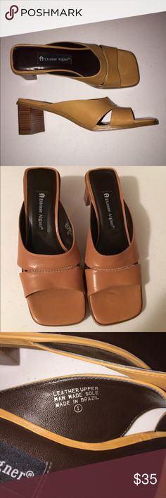 Like New Aigner Ginga heels Like New Aigner Ginga heeled sandals! Genuine leather. Wood heel. Made in Brazil. Etienne Aigner Shoes Sandals