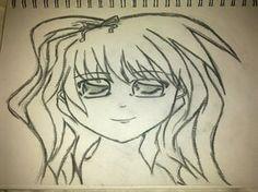 Manga little girl portrait