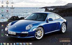 Porsche 911 Windows 7 Theme - Um tema com os melhores modelos Porsche pra decorar seu computador! Baixe no Zigg