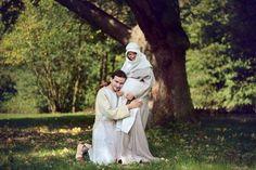 Slovanský pár z 10. století. Slavonic Couple, 10th Century. Photo A. Taskina.
