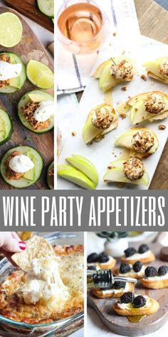 fingerfood party appetizers Celebrate the season with effortless entertaining recipes that pair perfectly with your favorite glass of wine. Youll love these easy wine party Wine Party Appetizers, Fall Appetizers, Appetizer Recipes, Girls Night Appetizers, Wine Party Foods, Girls Night Snacks, Wine And Cheese Party, Wine Tasting Party, Wine Cheese