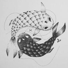 "13 curtidas, 1 comentários - @mshiroi no Instagram: ""#japaneseart #art #fish #drawingsketch #sketch #blackandwhite #zodiac #pisces #animal #koi #drawings"""