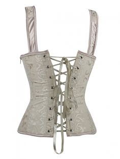 White Bridal Corset Lace Up Overbust Wedding Corsets & Women\'s Clothing > Lingerie > Bustiers & Corsets > Cheap Corsets Wedding Corset, Bridal Corset, Red Corset, Lace Corset, Boned Corsets, Overbust Corset, Slimming Corset, Spandex, White Bridal