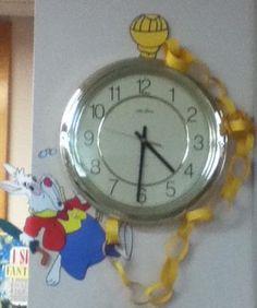 Mickey Mouse Classroom, Disney Classroom, Toddler Classroom, Castle Classroom, Classroom Clock, Classroom Banner, Alice In Wonderland Clocks, Alice In Wonderland Party, Classroom Displays