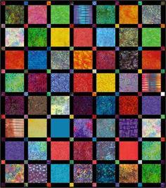 Tonga Dimes Batik Bed Quilt Pattern Download
