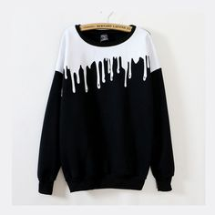 Harajuku Pouring Milk Long Sleeve Sweater