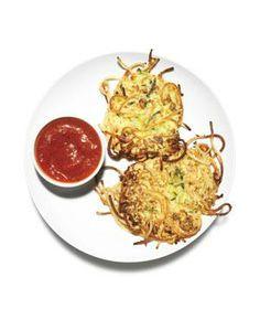 Spaghetti and Zucchini Pancakes recipe