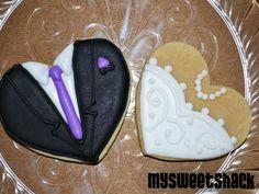 wedding cookies  www.facebook.com/mysweetshack