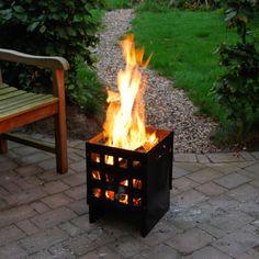 Esschert Design vuurkorf metaal | metal fire basket  | garden | bewonen.nl