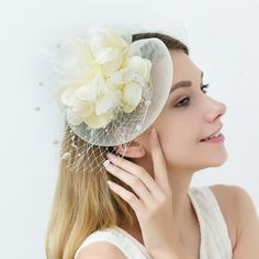 Wedding Guest Fascinators, Wedding Hats For Guests, Ivory Fascinator, Headpiece, Victoria Costume, English Hats, How To Make Fascinators, 1950s Fashion Dresses, Great Gatsby Party