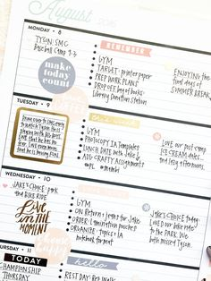 two weeks of August in the Rose Gold Horizontal Happy Planner™ of mambi Design Team member April Orr | me & my BIG ideas