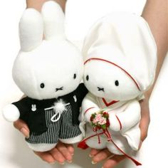 Miffy Bride and Groom Stuffed Toys in Japanese Wedding Kimono