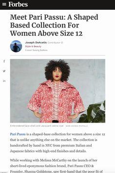 Press – Pari Passu Japanese Fabric, Embroidered Lace, Fashion Brand, Crime, Product Launch, Fashion Branding, Crime Comics, Fracture Mechanics