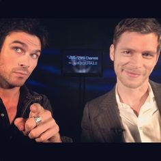 Klaus and Damon doing interviews together... Awwwww!