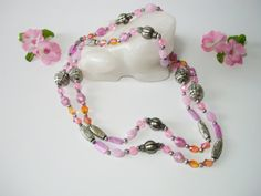 Vintage jewelry beaded necklace vintage boho by MoniceBoutique