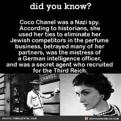 Chanel was never tried for her crimes as a collaborator. She used her connections, information, and money to pay off the right people and cover her tracks. She was briefly arrested and questioned by a French judge, but basically got off scott-free and allegedly told her family that she was freed by Winston Churchill. Source