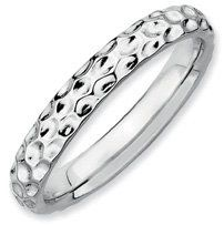 Breathtaking Silver Stackable Rhodium Ring Band. Sizes 5-10 Available Jewelry Pot. $18.99. 30 Day Money Back Guarantee. All Genuine Diamonds, Gemstones, Materials, and Precious Metals. Fabulous Promotions and Discounts!. 100% Satisfaction Guarantee. Questions? Call 866-923-4446. Your item will be shipped the same or next weekday!