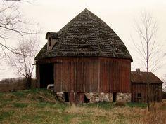 Octagon Barn, located in Isabella County, Michigan.