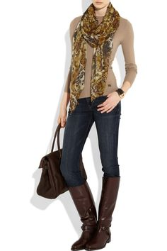simple outfit w. burberry boots.