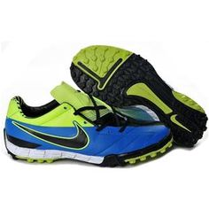 http://www.asneakers4u.com/ Nike Soccer Total 90 Shoot IV TF Astro Turf   In Blue Electricity Black Men Football Cleats