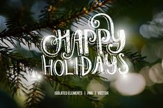 Handdrawn Christmas Photo Overlays by Favete Art on @creativemarket