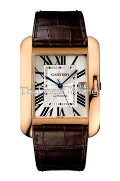 7c77f919286 Large Cartier Tank Anglaise Watch - W5310004. Rectangular 18k pink gold  case (47mm height