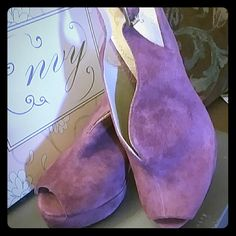 Shoes Foxy Magenta colored open toesling back wedges these are so beautiful and are brand new w/o the tag still in the box by Envy .. Shoes Wedges