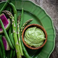 Fresh Herb Aioli with Spring Vegetables