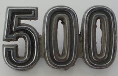 500 car badge 500 Cars, Car Badges, Vintage Cars, Plates, Licence Plates, Dishes, Plate, Dish, Antique Cars