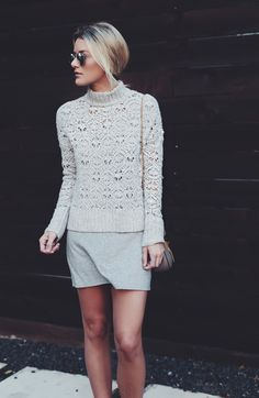 @sosageblog is sharing her Fall-ready styling tips featuring the Ahhhmazingly Soft Mock Neck Sweater on blog.ae.com.