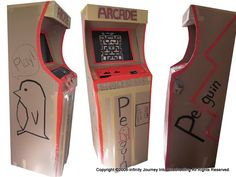 cardboard arcade games shorties tommiewienand isakunz happiness games games games games-and-fun Mini Arcade, Holiday Club, 80s Theme, Video Game Party, Game Themes, Game Room Decor, Vacation Bible School, Diy Cardboard, Carnival Games