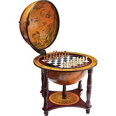 """Buy Kassel™ 13"""" Diameter Globe with 57pc Chess and Checkers Set - Topvintagestyle.com ✓ FREE DELIVERY possible on eligible purchases"""