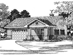 057G-0024: 2-Car Garage Plan with Hobby Room or Flex Space