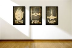 11x17 Star Wars Poster Minimalist Ship Set. $39.00, via Etsy.