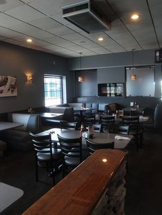Newly Remodeled Dining Room At Features Sports Bar And Grill In West Salem WI