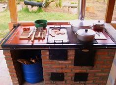 Paradise Outdoor Kitchens For Entertaining Guests Rustic Outdoor, Outdoor Decor, Outdoor Stove, Wood Oven, Cooking Stove, Rocket Stoves, Summer Kitchen, Outdoor Kitchen Design, Bbq Grill